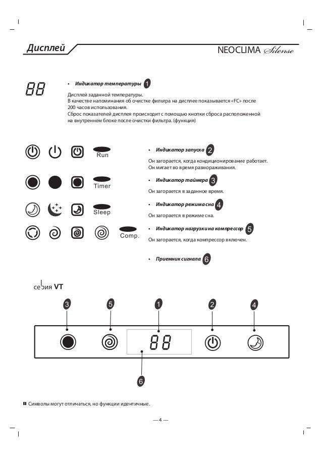 Neoclima кондиционеры инструкция к пульту - фото 11