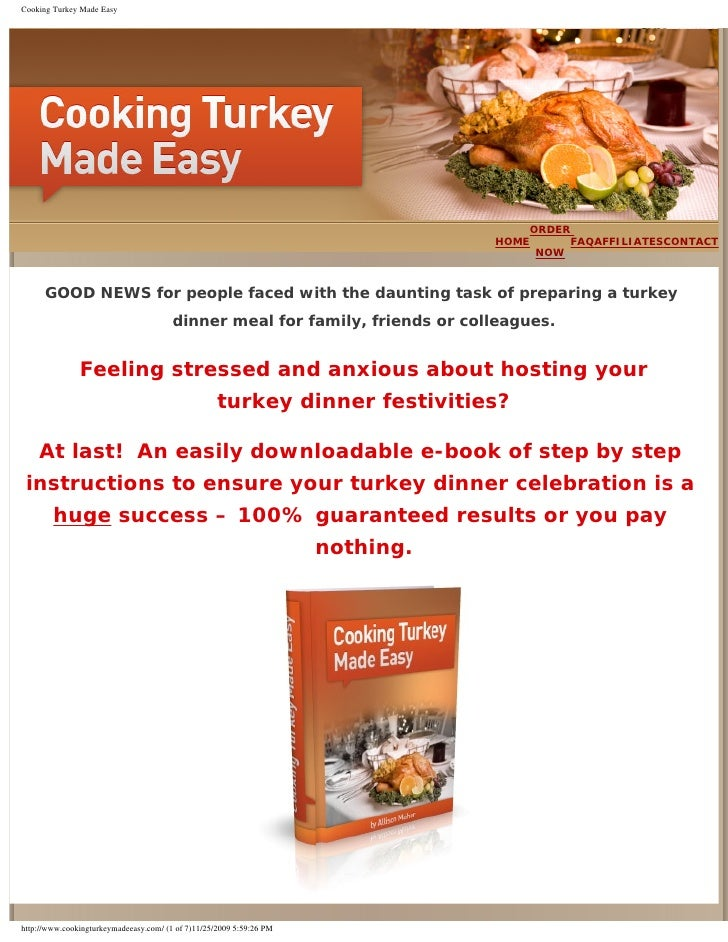 Cooking Turkey Made Easy                                                                                          ORDER   ...