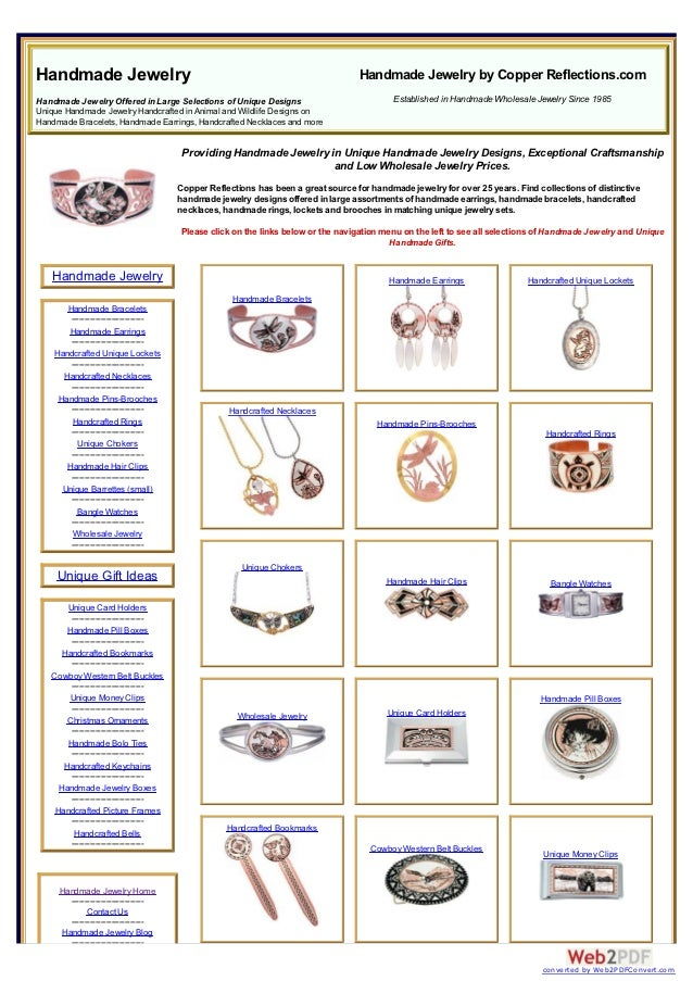 Handmade Jewelry                                                                  Handmade Jewelry by Copper Reflections.c...