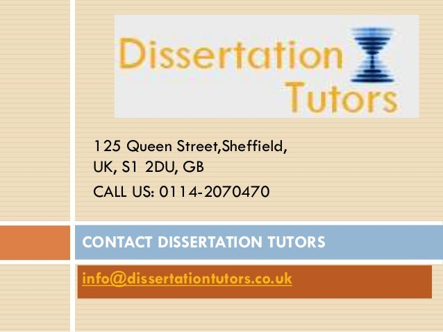 Dissertation help tutors