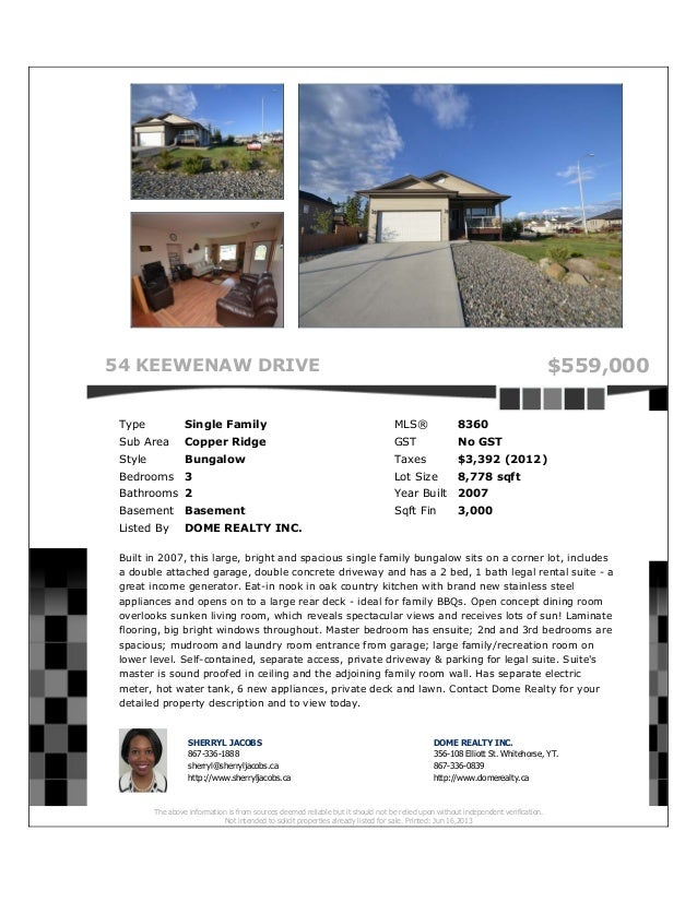 Www.domerealty.ca 54-keewenaw-drive-copper-ridge-whitehorse-house-for-sale