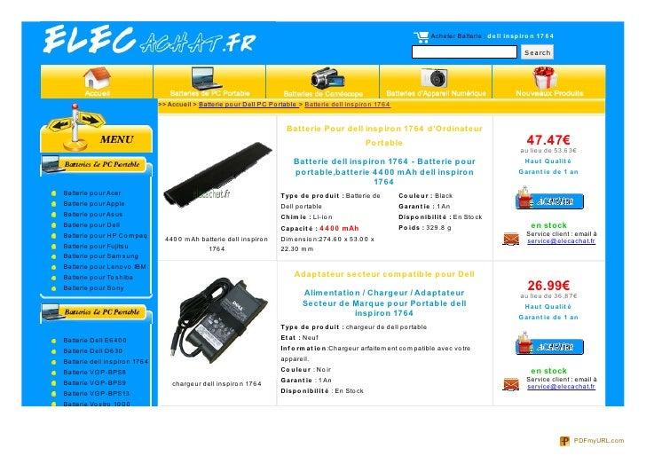 Acheter Batterie : de ll inspiro n 17 6 4                                                                                 ...