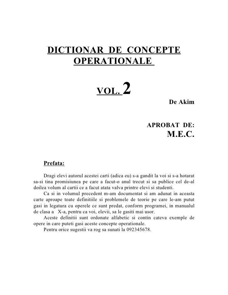 237 - romana - colectie de definitii