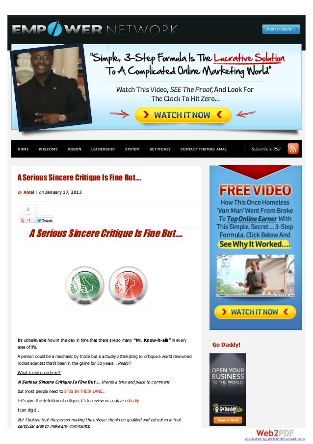 HOME         WELCOME           VISION        LEADERSHIP           SYSTEM       GET MONEY     CONTACT THOMAS AMAL         S...