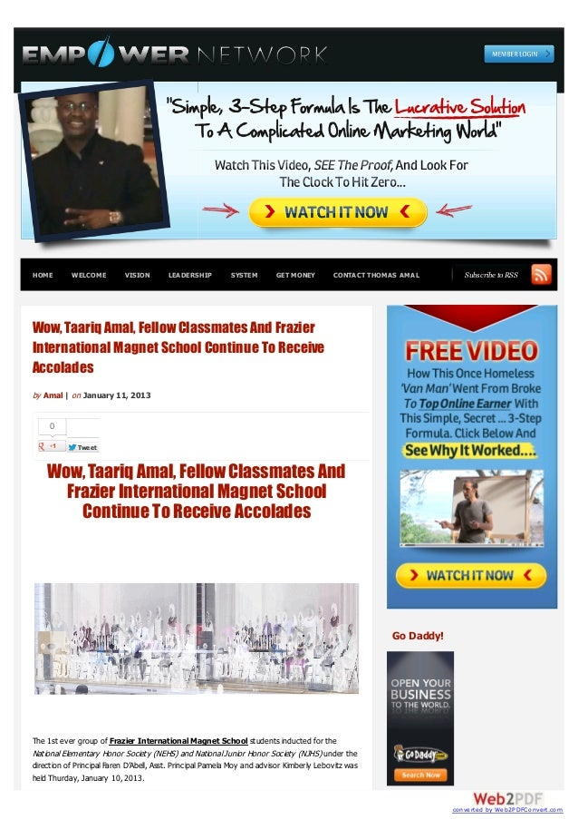 HOME       WELCOME         VISION       LEADERSHIP         SYSTEM        GET MONEY        CONTACT THOMAS AMAL         Subs...