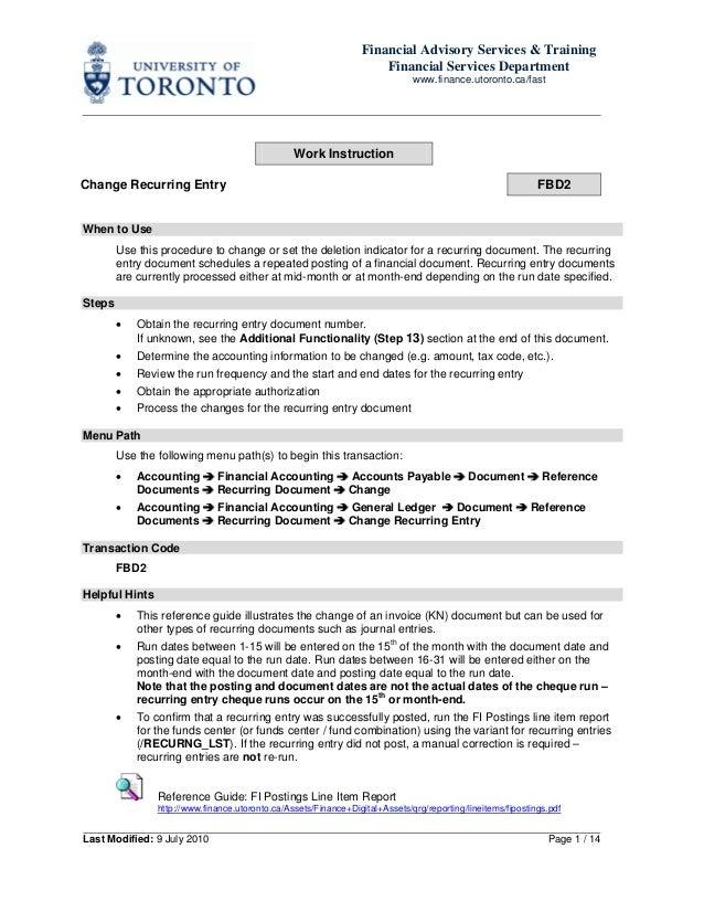 Financial Advisory Services & TrainingFinancial Services Departmentwww.finance.utoronto.ca/fastLast Modified: 9 July 2010 ...