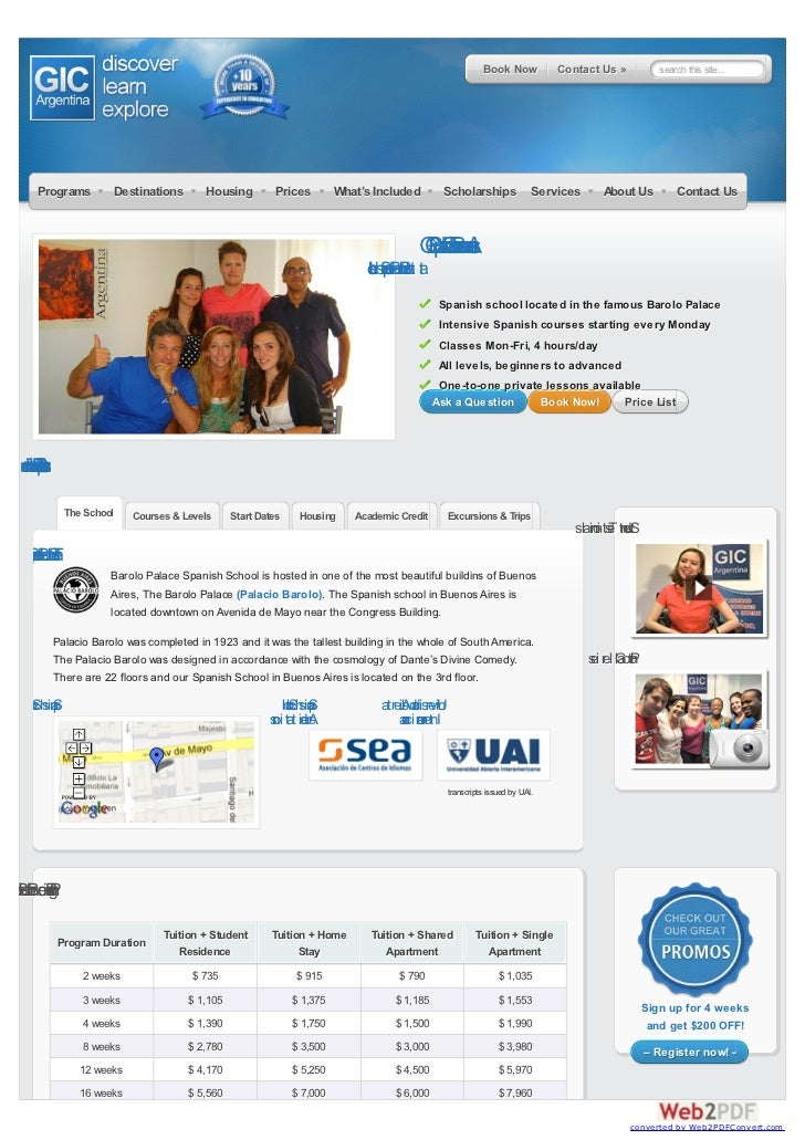 Book Now           Contact Us »             search this site...        Programs          Destinations       Housing       ...