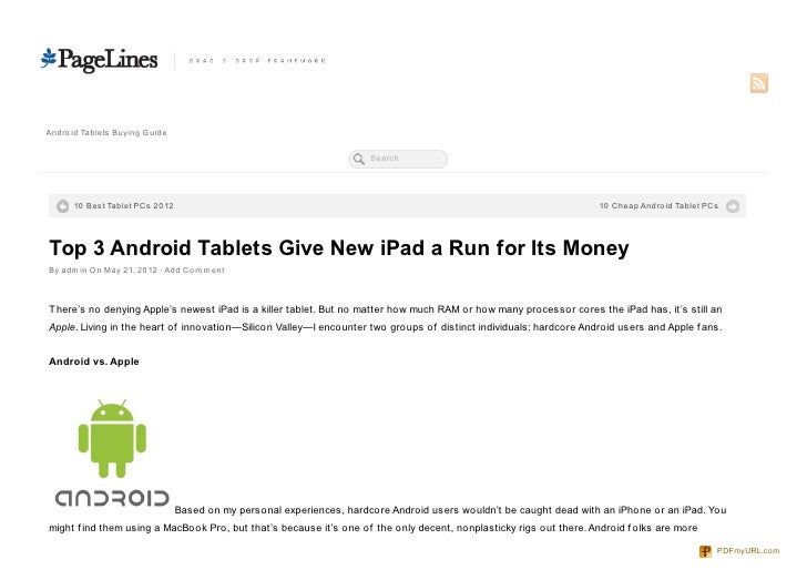 3 Android Tablets Give New iPad a Run for Its Money