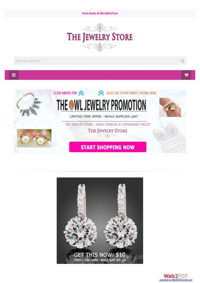   Great JewelryAt AffordablePrices Search our entire store  converted by Web2PDFConvert.com