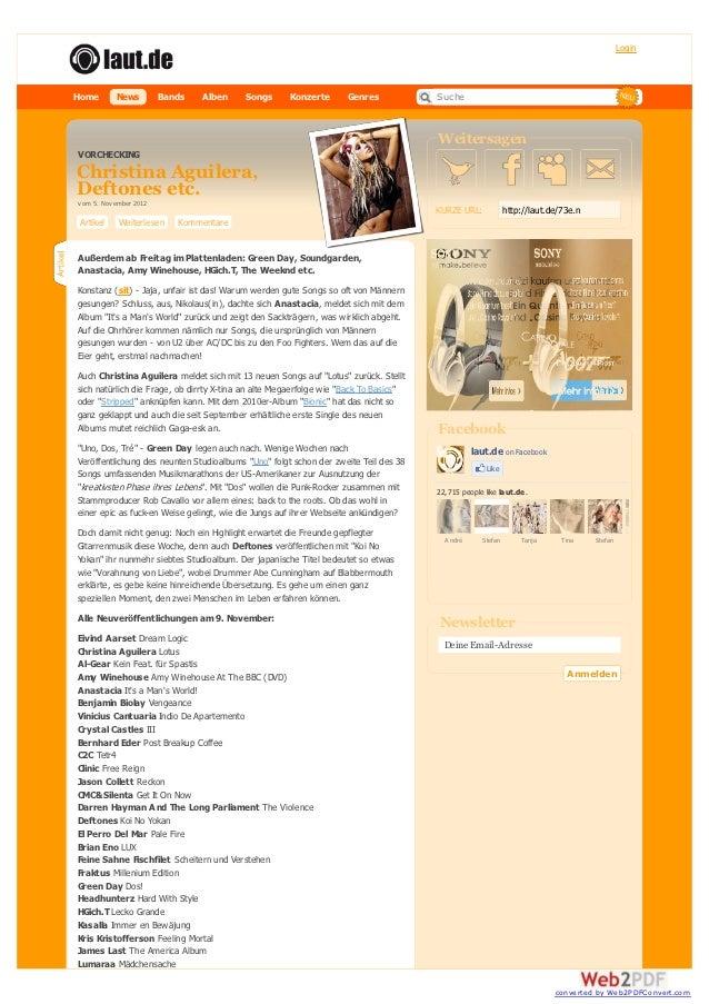 LoginHome        News         Bands   Alben    Songs      Konzerte       Genres            Suche                          ...