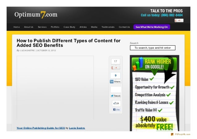 How to Publish Different Types of Content Online