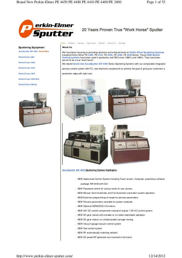 Brand New Perkin-Elmer PE 4450 PE 4480 PE 4410 PE 4400 PE 2400                                                            ...