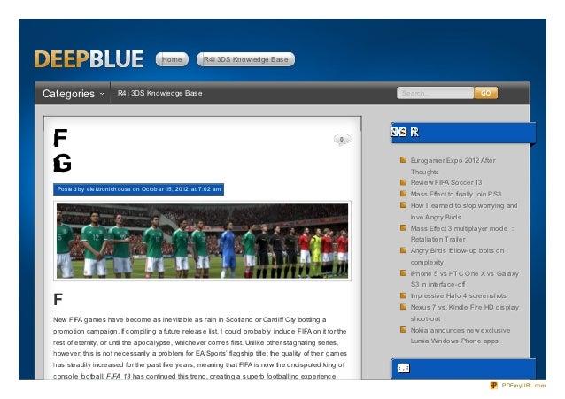 Review New FIFA Games: FIFA 13