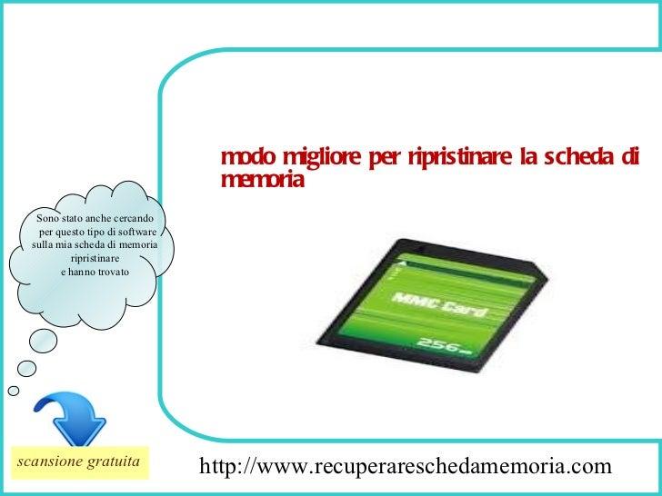 How To Remove http://www.recuperareschedamemoria.com Sono stato anche cercando per questo tipo di software sulla mia sched...
