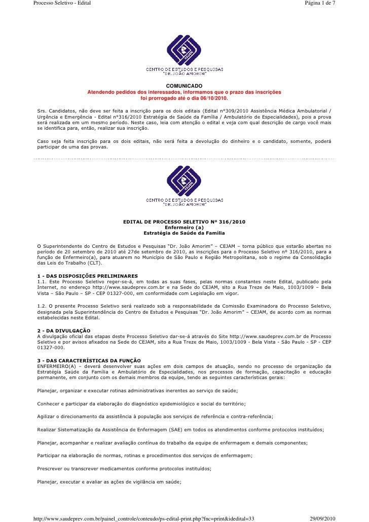 saudeprev.com.br - edital - PSF