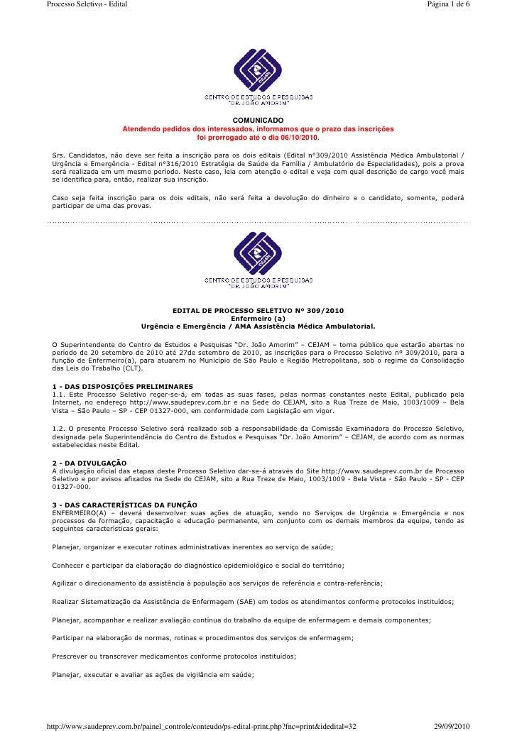 saudeprev.com.br - edital - emergencia