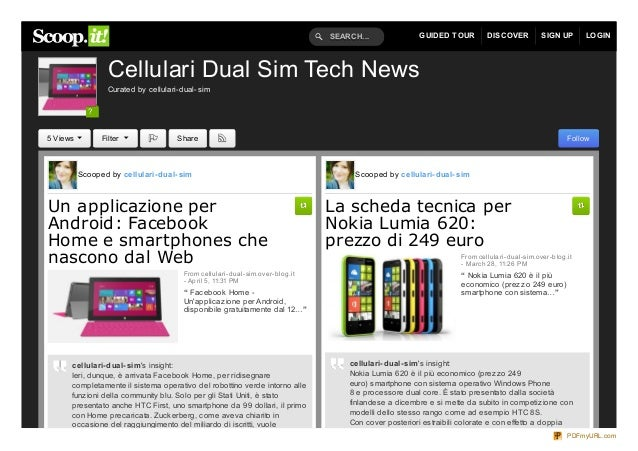 SEARCH...              GUIDED TOUR          DISCOVER           SIGN UP       LOGIN                  Cellulari Dual Sim Tec...