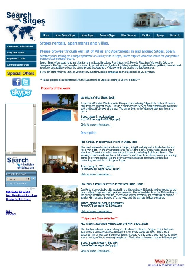 Home  About Search Sitges  About Sitges  Events in Sitges  Other Services  Car Hire  Sign up  Contact Us  Sitges rentals, ...