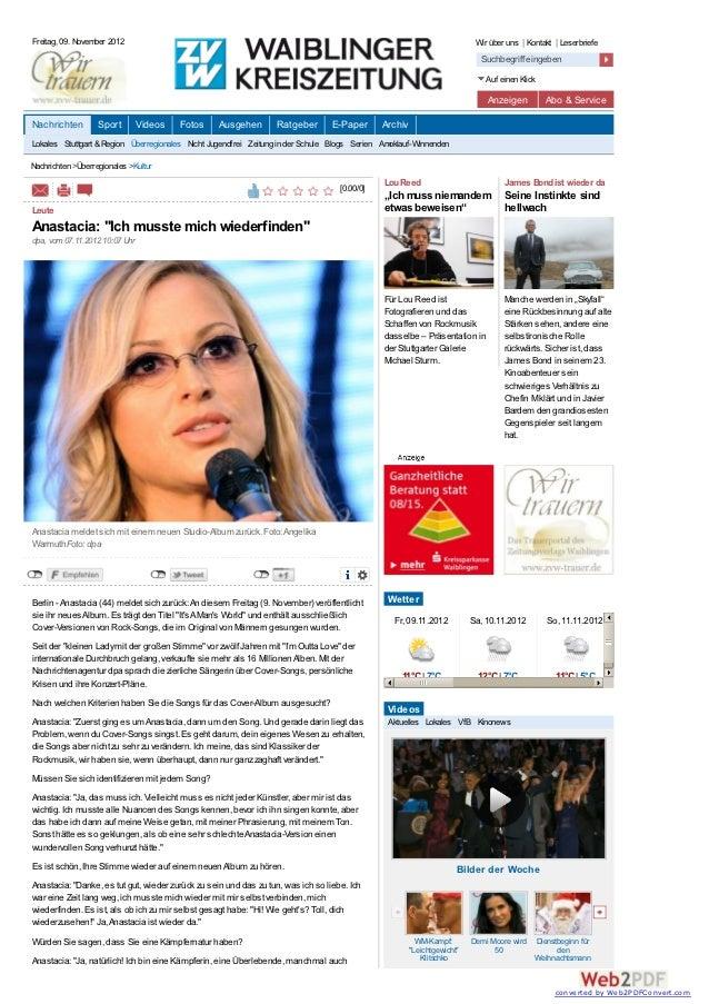 Freitag, 09. November 2012                                                                                              Wi...
