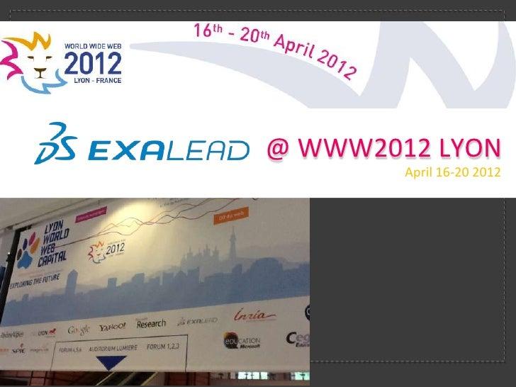 3DS Exalead @ WWW2012