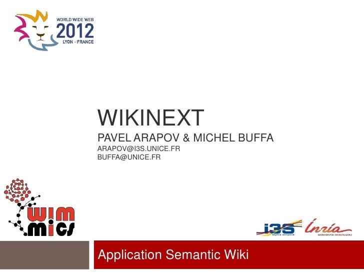 WikiNext - Application Semantic Wiki