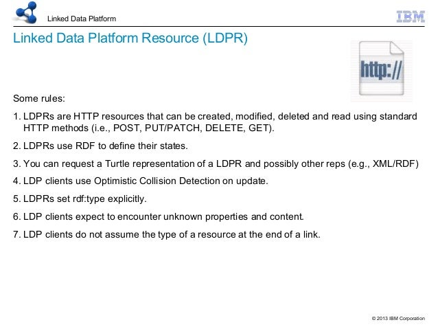 WWW2013 Linked Data Platform (LDP) 20130515