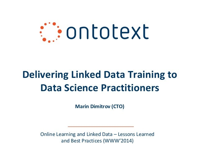 Delivering Linked Data Training to Data Science Practitioners