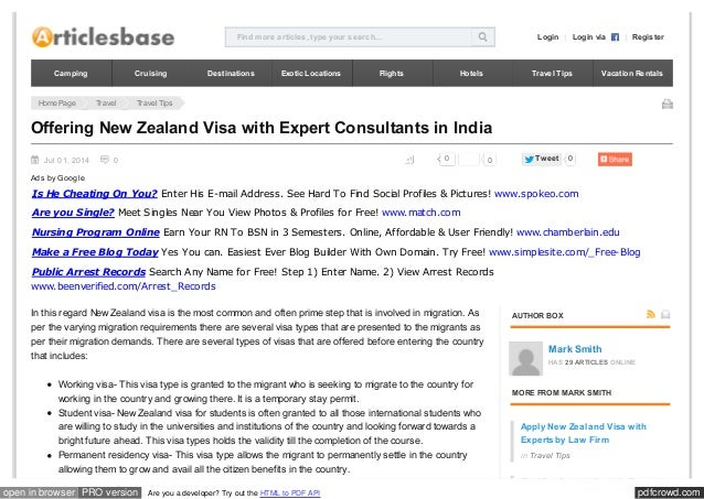 Applying New Zealand Visa with Expert Consultants in India