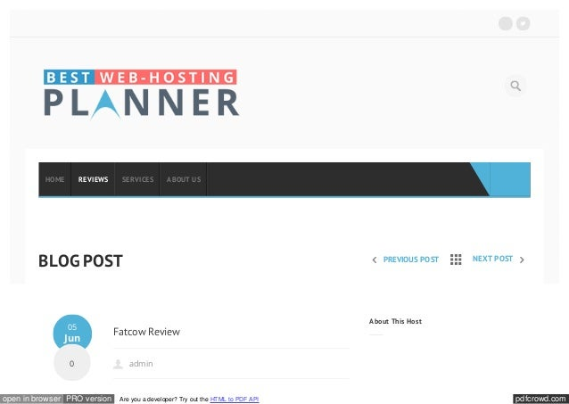 pdfcrowd.comopen in browser PRO version Are you a developer? Try out the HTML to PDF API PREVIOUS POST NEXT POST Fatcow Re...