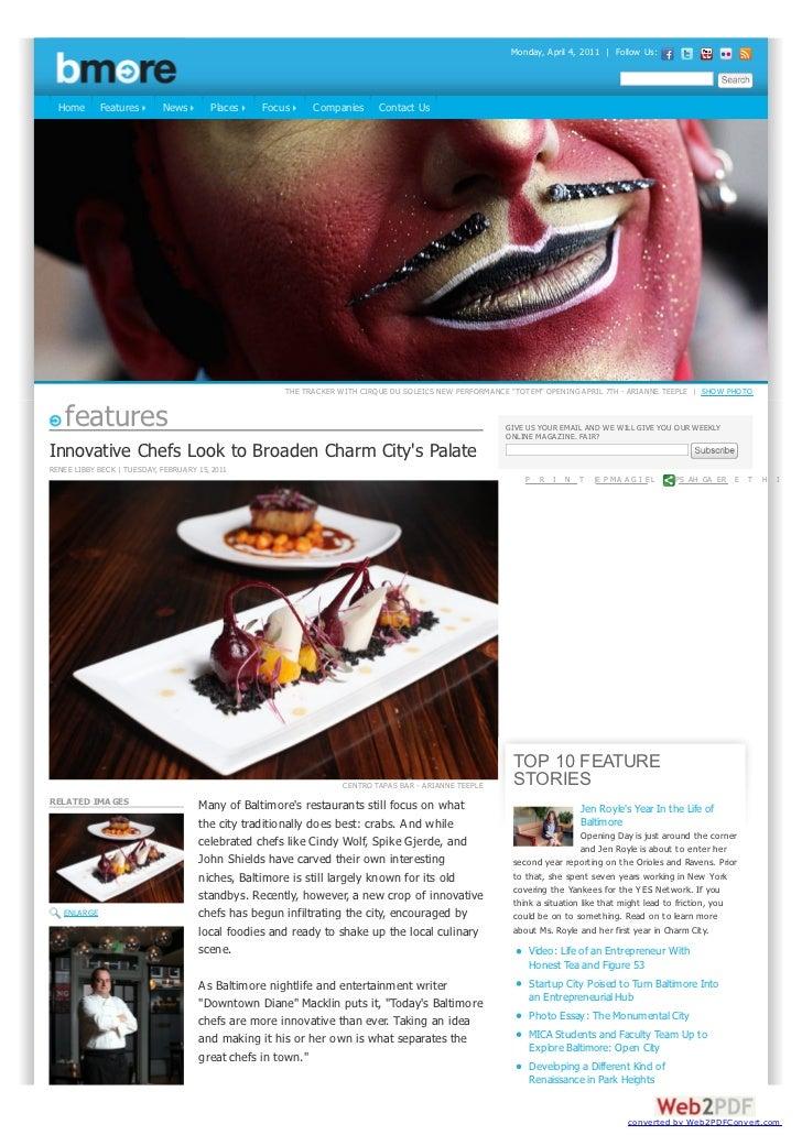 Monday, April 4, 2011 | Follow Us:  Home       Features       News        Places   Focus     Companies      Contact Us    ...