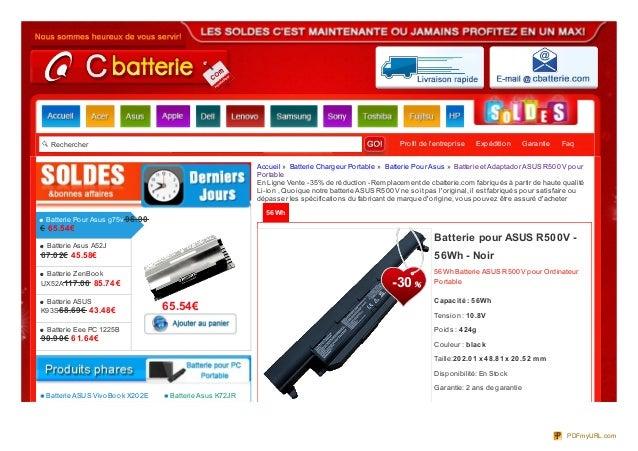 Rechercher Profil de l'entreprise Expédition Garantie Faq 56Wh 56Wh Batterie ASUS R500V pour Ordinateur Portable Capacit é...
