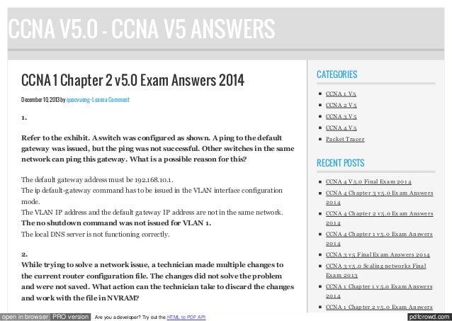ccna 1 chapter 2 v5.0 exam answers 2014