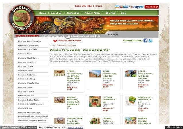 Buy Dinosaur pack from Dinosaur Corporation