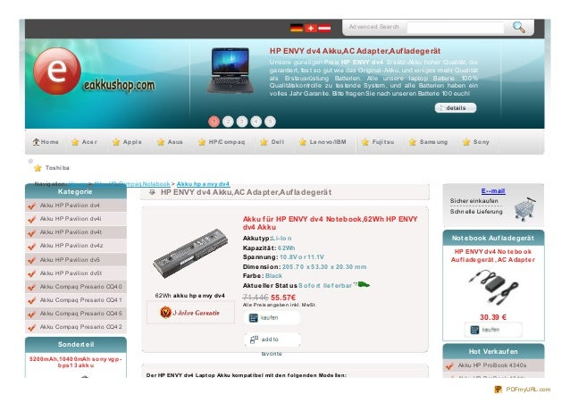 Advanced Search                                                                                                HP ENVY dv4...