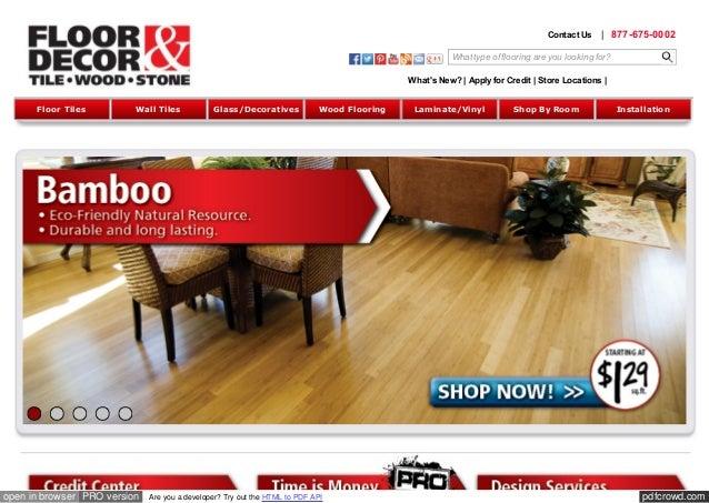 Flooring | Tile | Floor & Decor