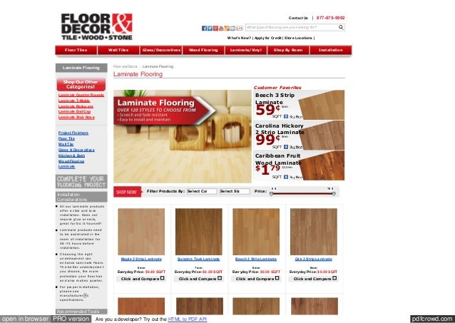 pdfcrowd.comopen in browser PRO version Are you a developer? Try out the HTML to PDF API Laminate Flooring Laminate Quarte...