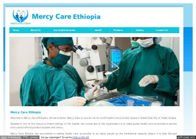Www mercycareethiopia org