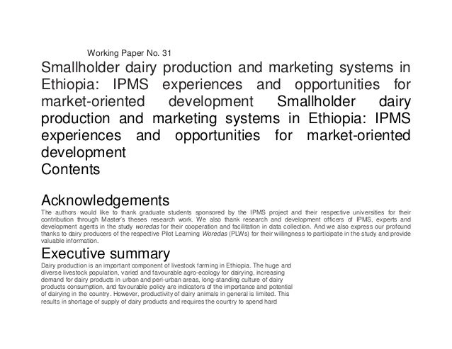 www.ipms-ethiopia.org www.eap.gov.et Working Paper No. 31 Smallholder dairy production and marketing systems in Ethiopia: ...