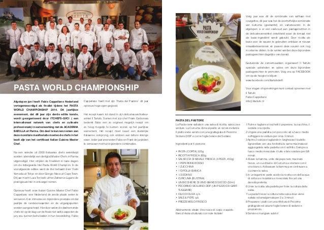 WWW Rotterdam Zomer 2014 - Pasta World Championship