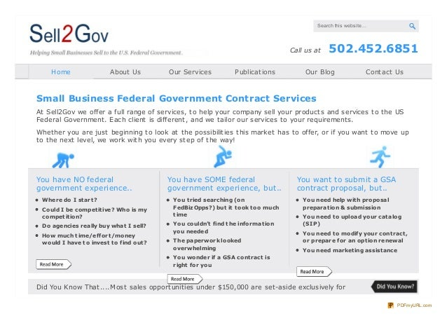 Sell2Gov - Small Business Government Contracts