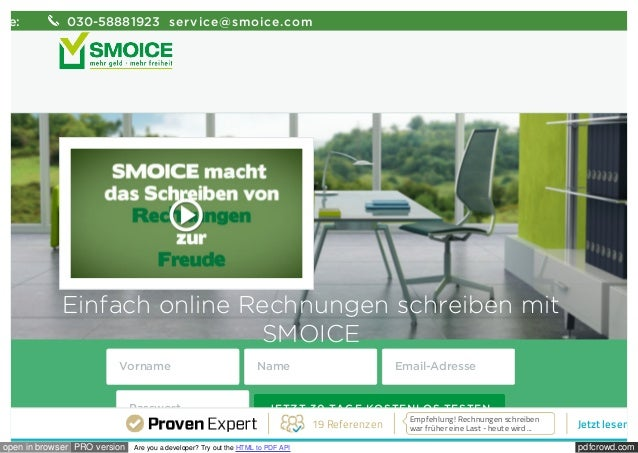 pdfcrowd.comopen in browser PRO version Are you a developer? Try out the HTML to PDF API Einfach online Rechnungen schreib...