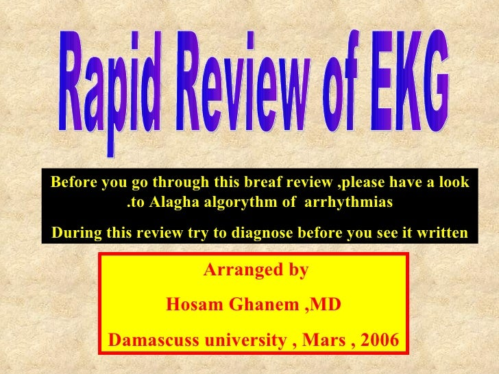 Rapid Review of basic ECG