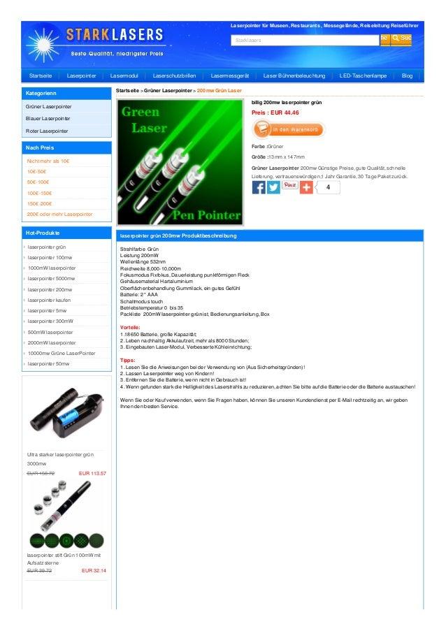 Laserpointer für Museen, Restaurants , Messegelände, Reiseleitung Reiseführer Starklasers 4 billig 200mw laserpointer grün...