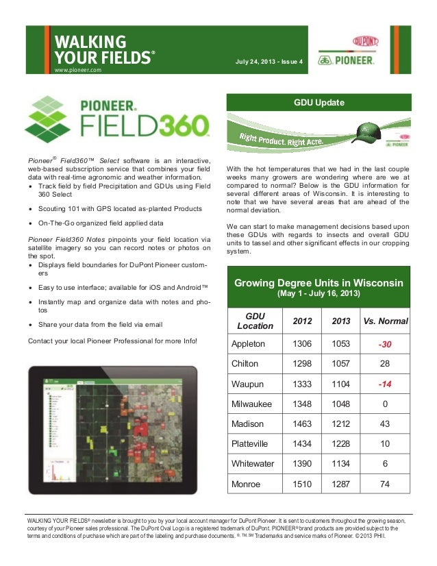 Wisconsin Walking Your Fields newsletter-July