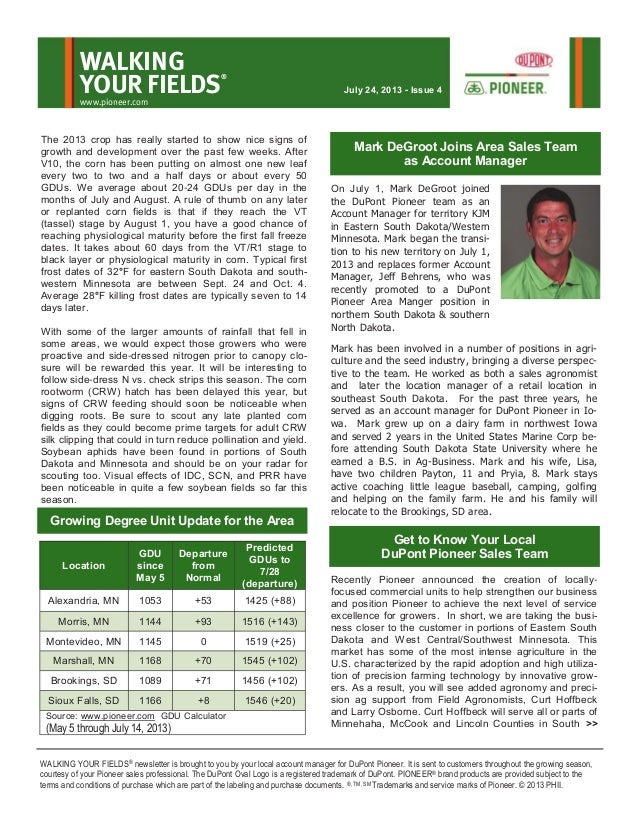 Western MN and eastern SD Walking Your Fields newsletter-July