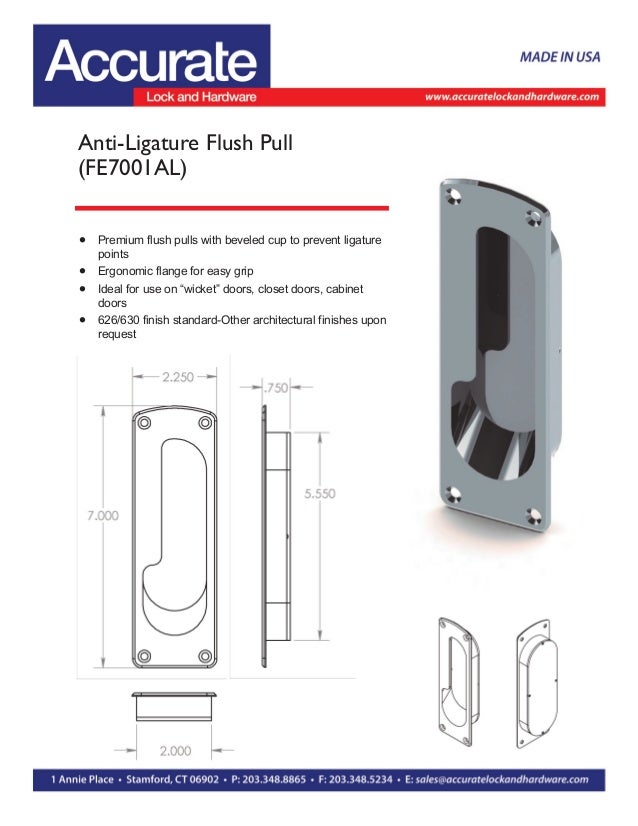 Anti Ligature Safety Hardware By Accurate Lock