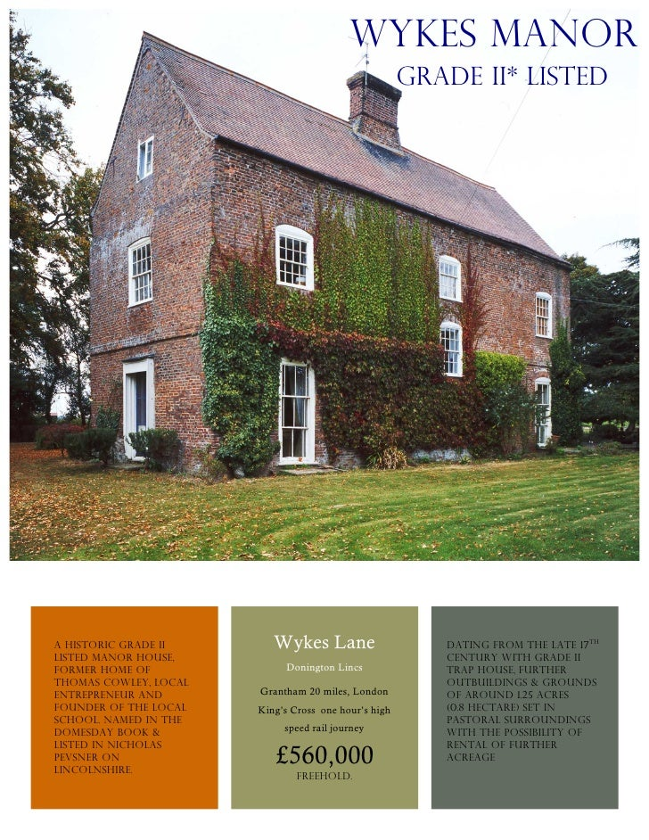 ebrochure, listed manor house, Lincolnshire, easy reach of London, tranquil, country living, great bargain, ready to move in, ideal country location