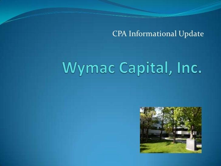 Wymac informational slide presentation