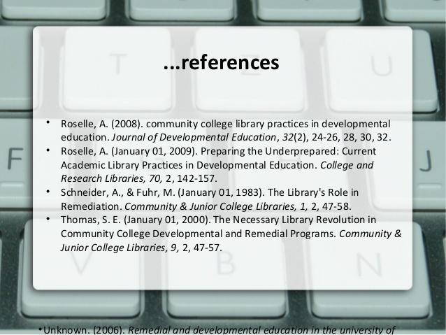 Journal of Developmental Education (JDE) | National Center for