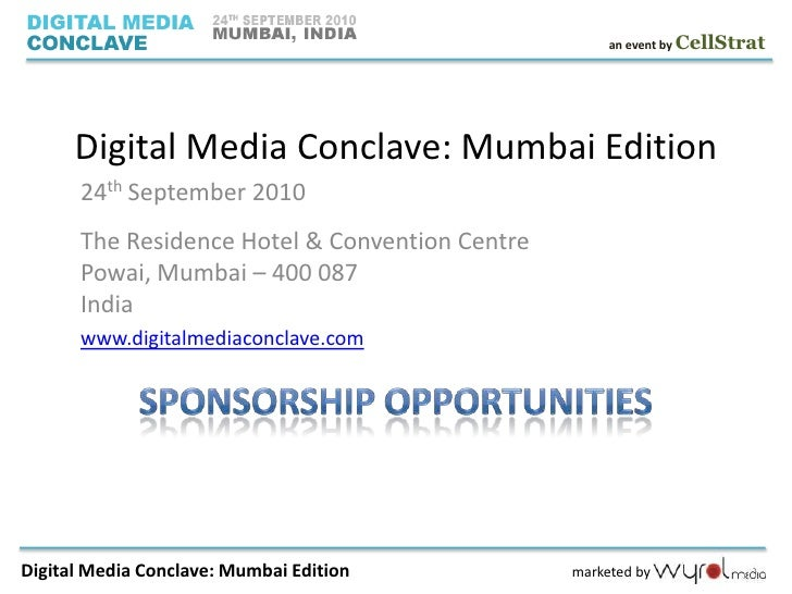 Branding Opportunities at Digital Media Conclave: Mumbai Edition